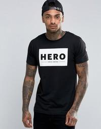 Футболка с большим логотипом Heros Heroine - Черный