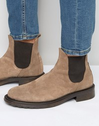 Ботинки челси из нубука Hudson London Denne - Рыжий
