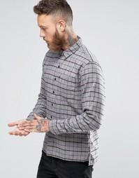 Клетчатая рубашка с одним карманом Levis Line 8 - Forged iron plaid