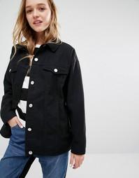 Джинсовая куртка Monki - Черный