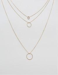 Посеребренное ожерелье в несколько рядов Nylon - С золотым покрытием