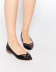 Туфли на плоской подошве Park Lane - Черный металлик