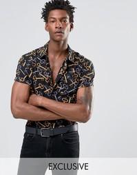 Рубашка классического кроя Reclaimed Vintge Party - Черный