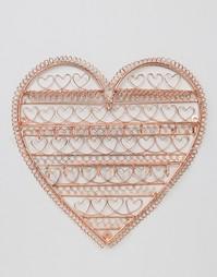 Sass & Belle Copper Heart Jewellery Holder - Медный