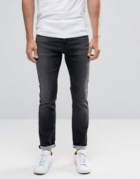 Серые эластичные джинсы скинни Selected Homme - Черный
