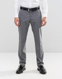 Брюки слим из эластичной ткани Selected Homme - Умеренный серый