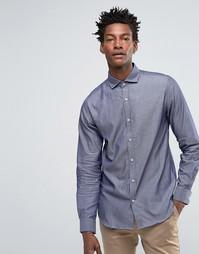 Рубашка слим с длинными рукавами Selected - Серый