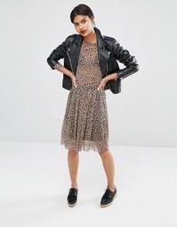 Y.A.S Leo Leopard Print Skirt - Мульти