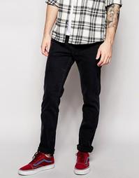 Черные джинсы слим Levis 8 511 - Black mid