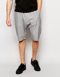 Светло-серые шорты с заниженным шаговым швом ASOS - Светло-серый