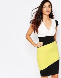Платье-футляр в стиле колор блок Jessica Wright Briony