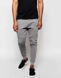 Серые спортивные брюки скинни Nike TF 805162-091 - Серый