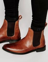 Светло-коричневые кожаные ботинки челси Lambretta - Коричневый