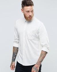 Светло-бежевая трикотажная рубашка с длинными рукавами и непсами ASOS
