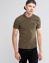Зеленая облегающая футболка-поло из пике ASOS - Battlefield