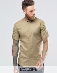 Строгая рубашка скинни с короткими рукавами Only & Sons - Рыжий