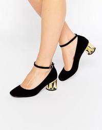 Туфли на каблуке ASOS SESAME - Черный бархатный