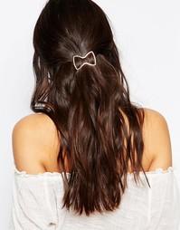 Розово-золотистая заколка для волос в виде бантика DesignB London