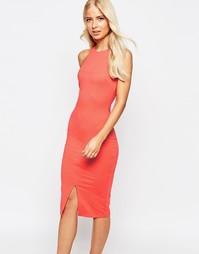 Платье-футляр миди в стиле борцовки AX Paris - Оранжевый