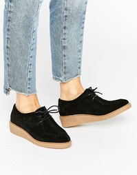 Замшевые туфли на плоской подошве ASOS MERCURY - Черный