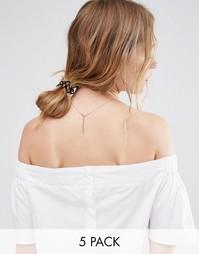 Набор из 5 маленьких спиралек для волос ASOS - Мульти