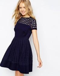 Платье с люверсами Jack Wills - Темно-синий