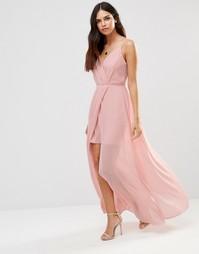 Платье макси с V-образным вырезом Adelyn Rae - Светло-розовый