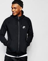 Худи на молнии Nike 809056-010 - Черный