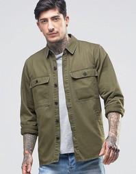 Рубашка с карманом на груди Another Influence - Зеленый