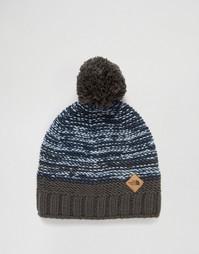 Черная шапка-бини с помпоном The North Face Ski Tuke - Синий