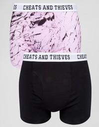 2 пары боксеров‑брифов Cheats & Thieves - Розовый