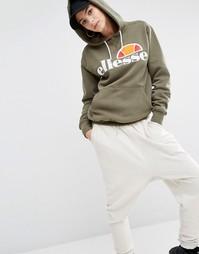 Oversize-пуловер с капюшоном и логотипом спереди Ellesse