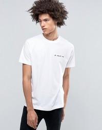 Белая футболка с вышивкой It Wasnt Me Cheap Monday - Белый