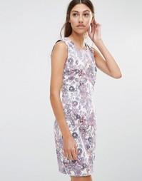 Цельнокройное платье с цветочным принтом Lavand - Розовый