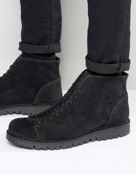 Walk London Bethnal Suede Monkey Boots - Серый