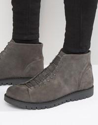 Walk London Bethnal Suede Monkey Boots - Темно-синий
