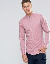 Оксфордская рубашка слим в воротником на пуговицах Boss Orange Edipoe