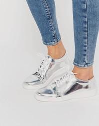 Серебристые кроссовки металлик Miista Adalynn - Серебряный