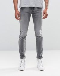 Светло-серые джинсы скинни Diesel Sleenker 674T - Светло-серый