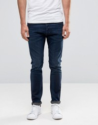 Зауженные джинсы темного цвета индиго Diesel Tepphar 857Z