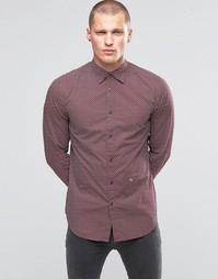Рубашка с шевронным принтом Diesel S-Pink - Burgundy