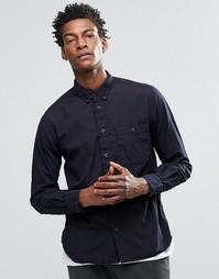 Рубашка с карманом на груди YMC - Темно-синий
