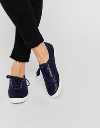 Keds Metallic Canvas Plimsoll Trainers - Темно-синий