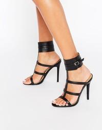 Public Desire Nika Ankle Cuff Heeled Sandals - Черный