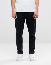 Черные джинсы с заниженным шаговым швом Nudie Brute Knut