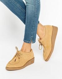 Замшевые туфли на плоской подошве ASOS MERCURY - Песок
