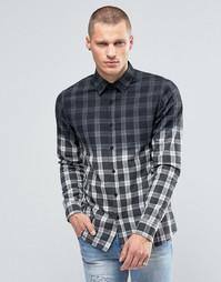 Фланелевая клетчатая рубашка с эффектом деграде Kubban - Синий