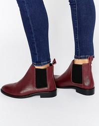 Кожаные ботинки челси Faith Binky - Бордовая кожа
