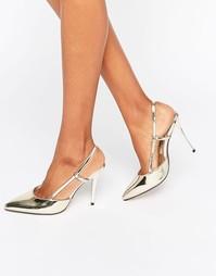 Туфли на каблуке с открытой пяткой и заостренным носом True Decadence