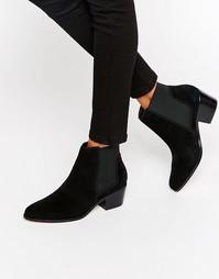 Замшевые ботинки челси Miss KG Spider - Черный замшевый